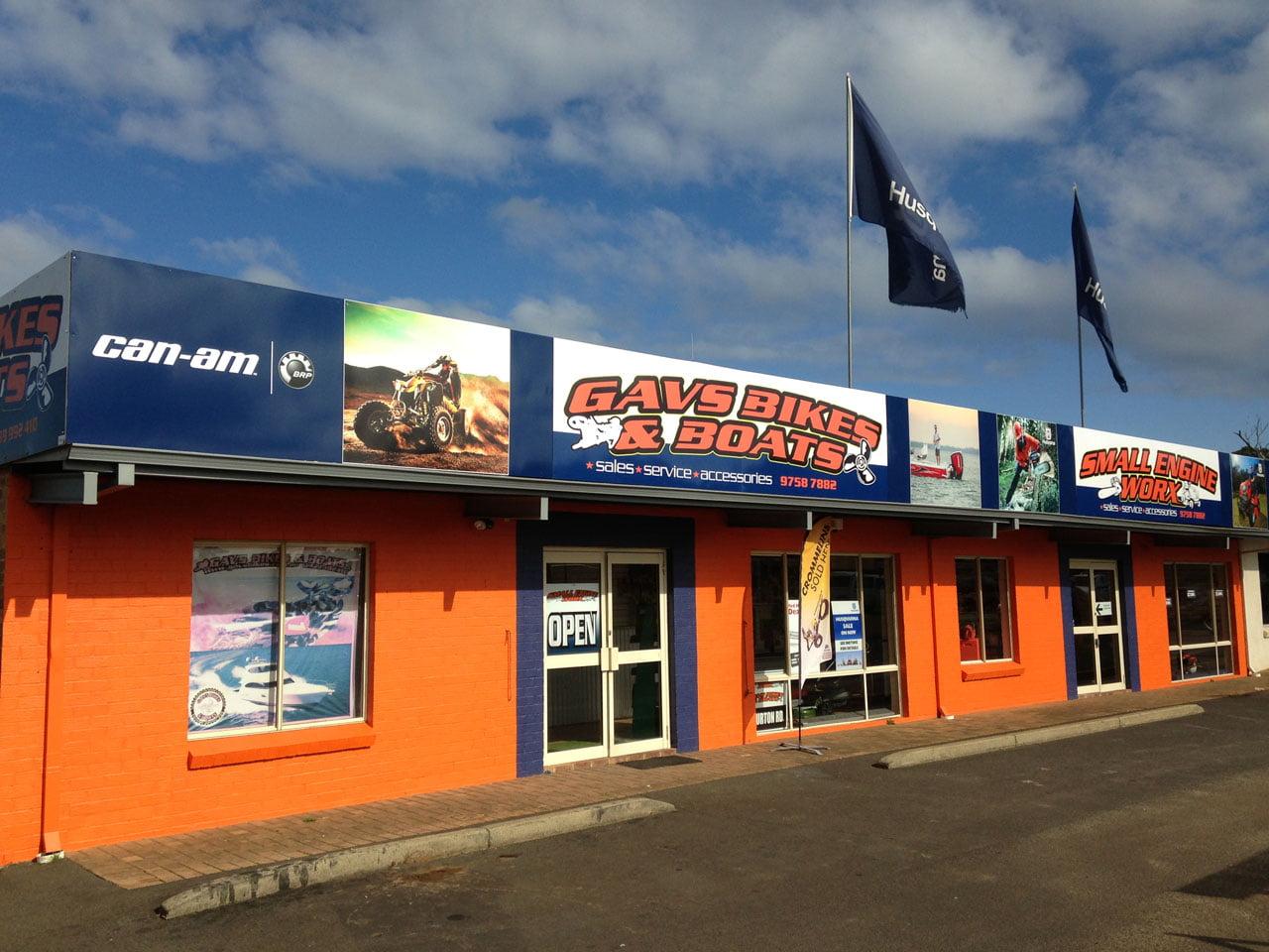 Shopfront - Gav's Bikes & Boats